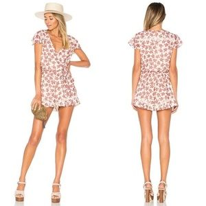 Tularosa | Ashby Floral Paisley Belted Tie Romper